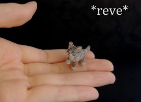 OOAK Handmade Miniature Tabby Kitten Sculpture by ReveMiniatures