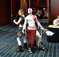 Link and Kratos by Emerald-Blue