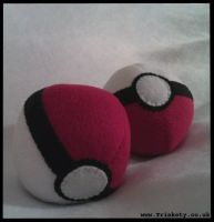 Pokeball Plush by Trinkety
