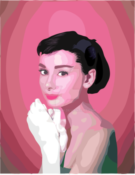 Audrey Hepburn Vector by GeloYellow