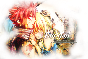 Fairy Tail - Lucy and Natsu by guto-strife-1