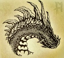dragon head study by theDeathspell
