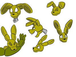 Fun with Plushtrap's expressions by RuneVix