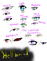 Hellbound Eye Chart I guess. by Azure-Samurai