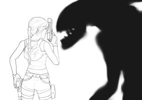 WIP lineart and shadow by ifihadacoconut