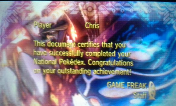 I completed the Nationakl Dex... Again! by senordunut
