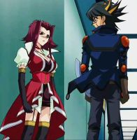 Yusei and Aki - Face to face by Mey-chian