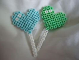 Heart Lollipops by PerlerHime