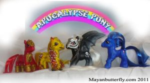 Robot Chicken Apocalypse Ponies Set by mayanbutterfly