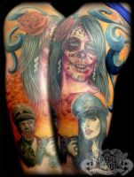 Colour half sleeve by state-of-art-tattoo