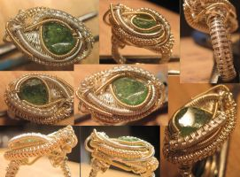 Green Tourmaline Ring by Civyx