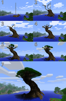 Minecraft Tree of Life - Steps by Adrian-Drott