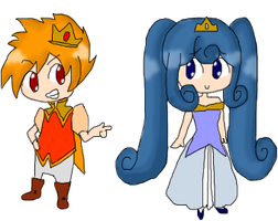Prince Flare and Princess Celeste by MagicalVeronica