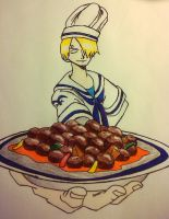 Sanji... the Marine Cook by swimli888