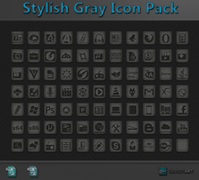 Stylish Gray Icon Pack + PSD by WwGallery