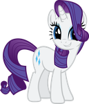 Rarity : Cute Smile by ShadyHorseman