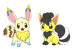 My Eevee and Vulpix form by pikachumasterfriends