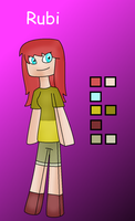 Minecraft OC: Rubi by Zoruaofepic