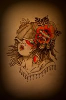 Traditional Gypsy Tattoo Flash by Battered-n-Bruised