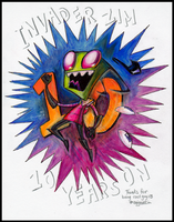 HAPPY 10th B-DAY INVADER ZIM by enigmatia
