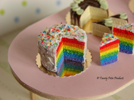 Rainbow Cake by birdielover