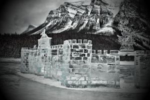 Ice Sculpures at Lake Louise by skip2000
