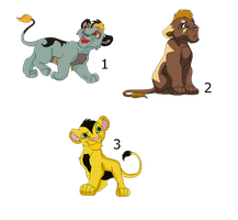 Lion adoptables by LizzysAdopts