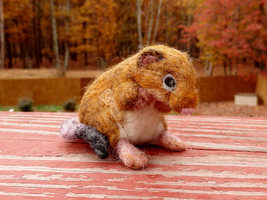 Needle Felted Rock Vole by DancingVulture