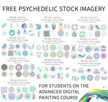 Free psychedelic stock imagery packs by LouisDyer