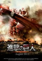 Attack on Titan Live Action Poster (Fan made) by awikrahman