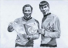 Star Trek on set - reading a magazine by meilin-mao