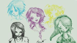 Expression Doodles by Meioma
