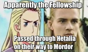 Hetalia and Lord of the Rings Crossover by evyboss103