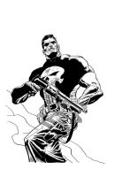 Punisher inked on 11x17 board by Cadre