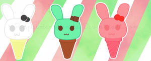 Ice Cream Bunnies by PeppermentPanda
