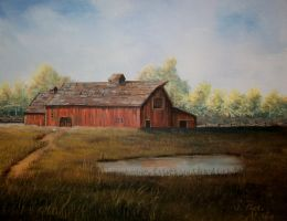 Quiet Country Barn-SOLD by annieoakley64