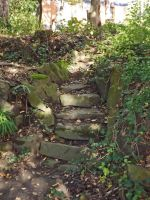 old stone stairs by SpellpearlArts