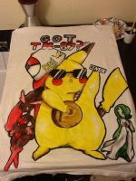 TM87 Pikachu Custom Made Shirt by CuteFatWhale
