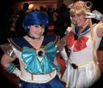 Random Sailor Mercury and myself as Sailor Moon! by snugglepanda