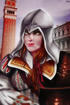 Fem!Ezio Auditore test by YamiMana