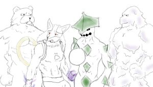 4 Bara pokemon furry Sketchy by shinoluigi