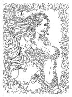 Poison Ivy by Sabine Rich, Inked. by JDB-Inks