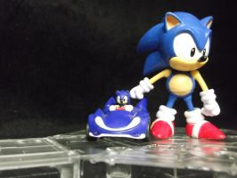 Sonic poses for the camera as he launches his game by forever-at-peace