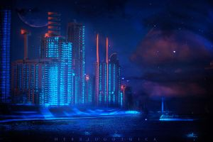 Neon Kill City. by hybridgothica