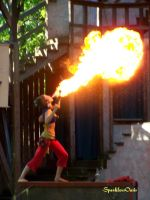 Barely Balanced Fire Breather by SparklersOasis
