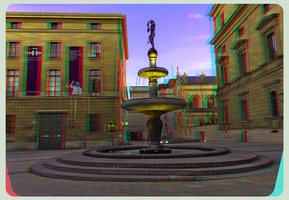 Behind the State Opera House 3D ::: Anaglyph HDR by zour