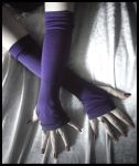 Exile Deep Plum Arm Warmers by ZenAndCoffee