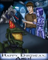 Halo - Birthday Card by Jedgesaurus
