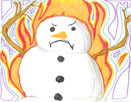Epic Flaming Snowman by Juunshi
