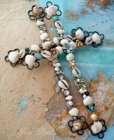 Shell and rhinestone crosses by janedean